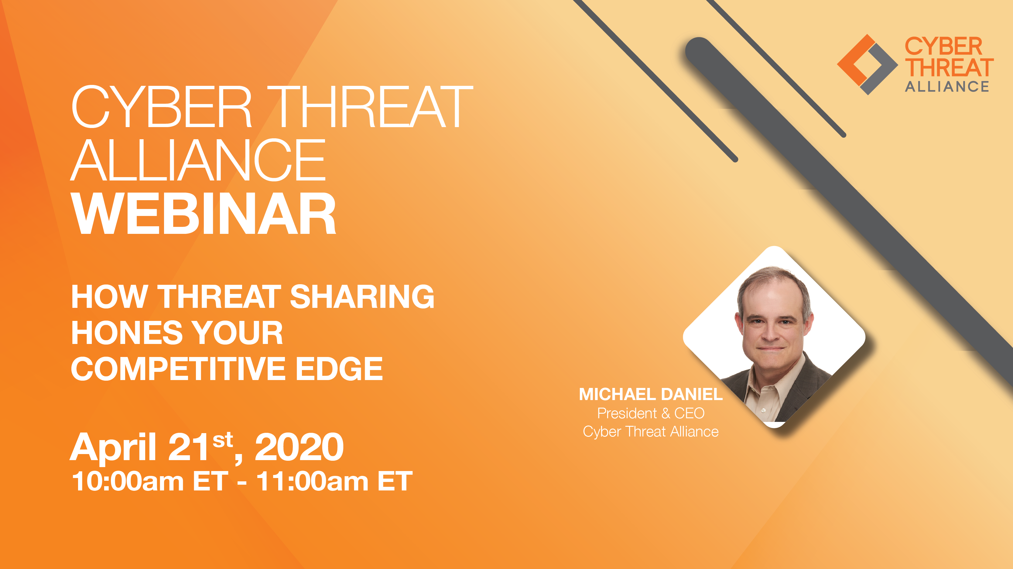 Watch the CTA Webinar, How Threat Sharing Hones Your Competitive Edge on April 21st at 10AM ET.