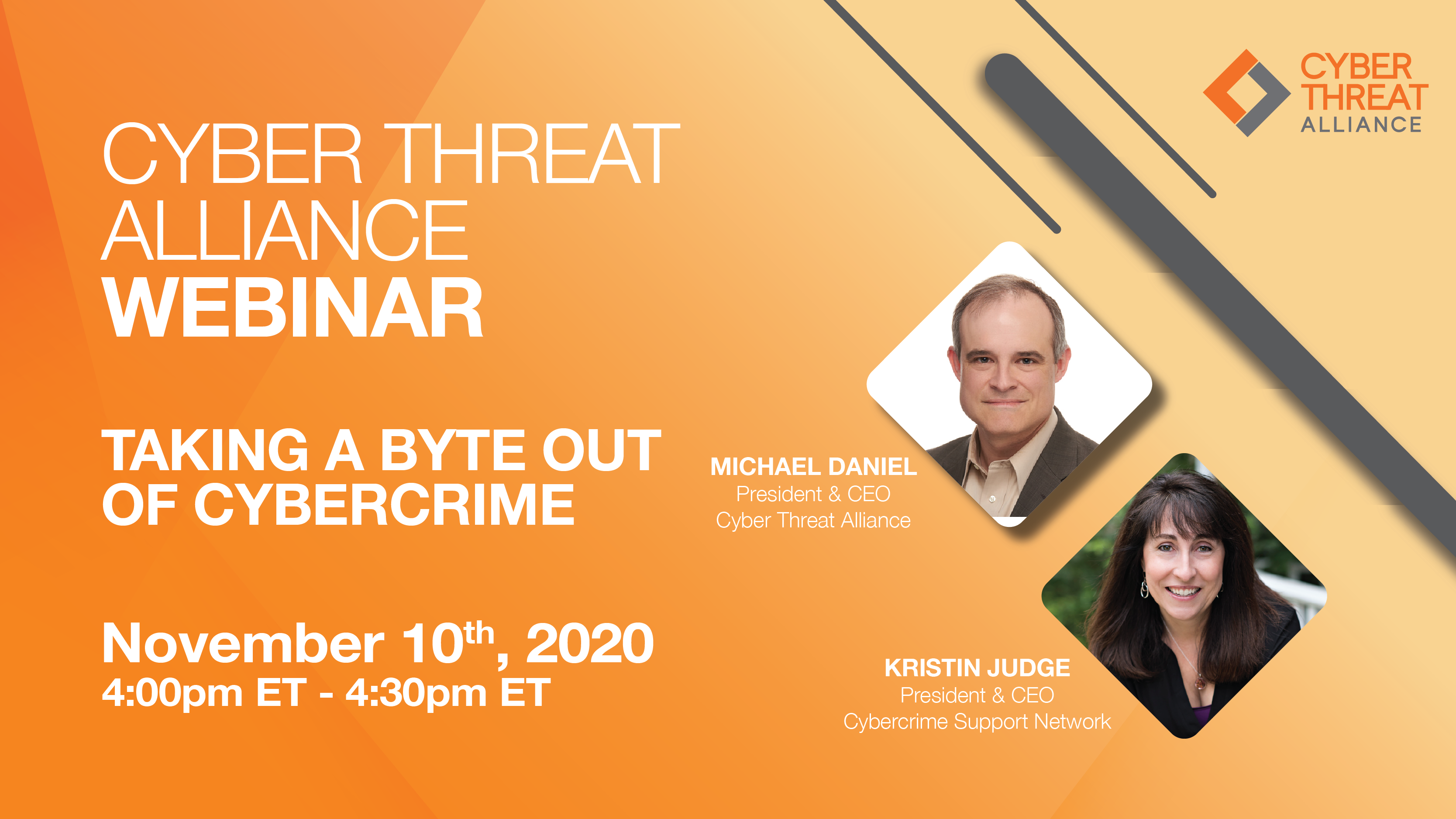 Watch the CTA Webinar, Taking a Byte Out of Cybercrime on November 10th at 4PM ET.