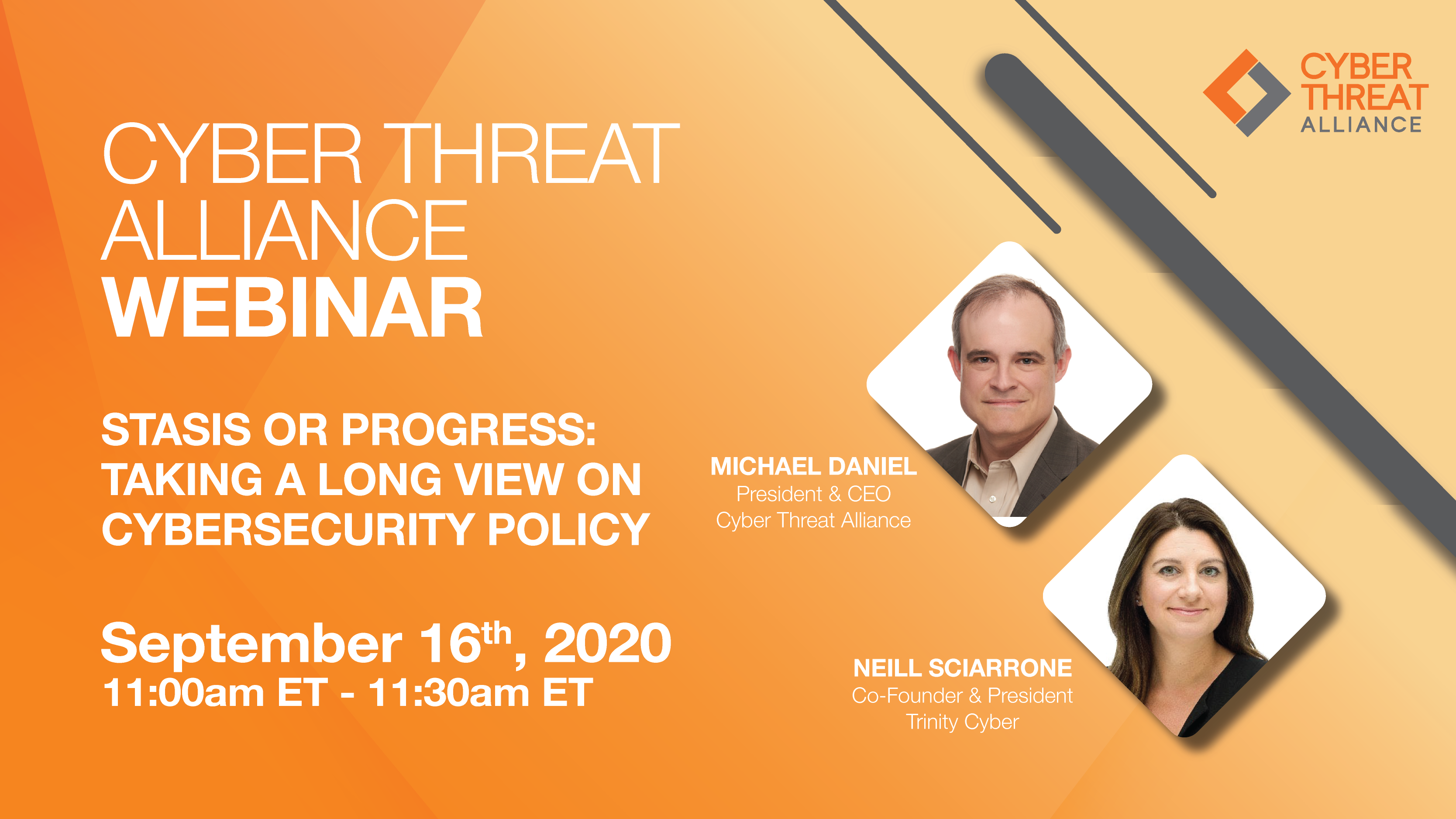 Watch the CTA Webinar, Statsis or Progress: Taking a long view on cybersecurity policy on September 16th at 11AM ET.